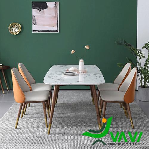 Bộ bàn ghế mặt đá hiện đại