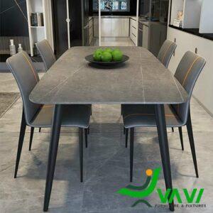 Bộ bàn ghế ăn bọc da phong cách hiện đại cao cấp