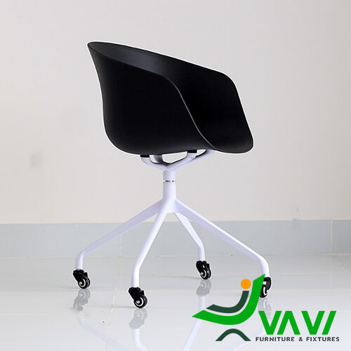 Ghế chân xoay nhôm cho văn phòng hiện đại màu đen