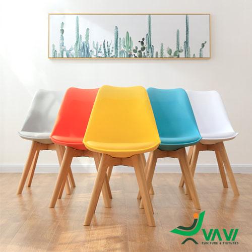 Địa chỉ bán ghế ăn cao cấp nhựa chân gỗ tại hà nội