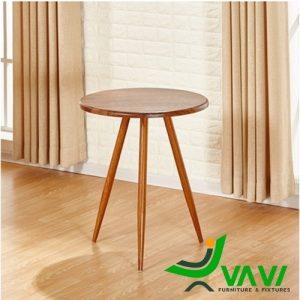 Bàn cafe tròn bằng gỗ