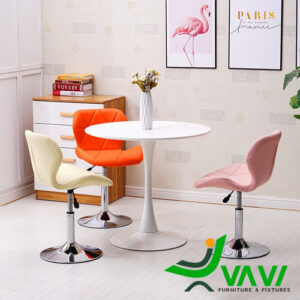 Bàn Tulip tròn 3 ghế nâng hạ giá rẻ