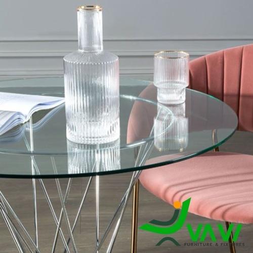 Mặt bàn Bàn cafe tròn mặt kính