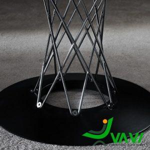 chân bàn Bàn cafe tròn mặt kính