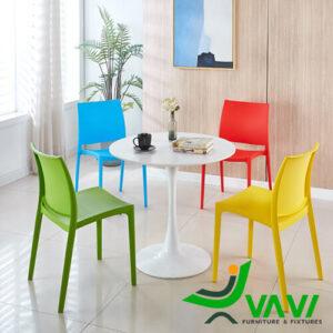 Bộ bàn Tulip 4 ghế nhựa đúc giá rẻ nhập khẩu nhiều màu