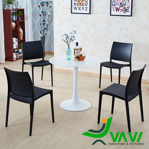Bộ bàn Tulip 4 ghế nhựa đúc cao cấp