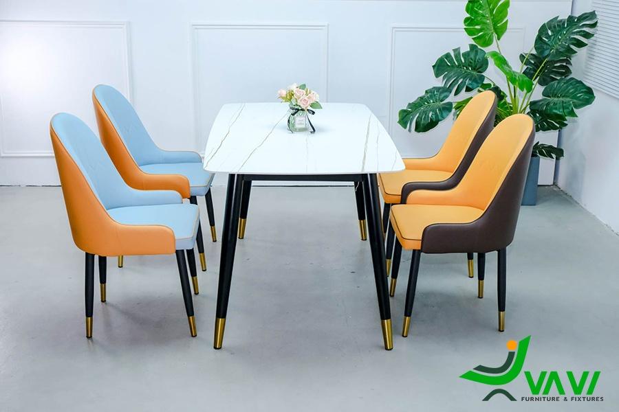 Bộ bàn ghế ăn đẹp sang trọng nhập khẩu Hà Nội
