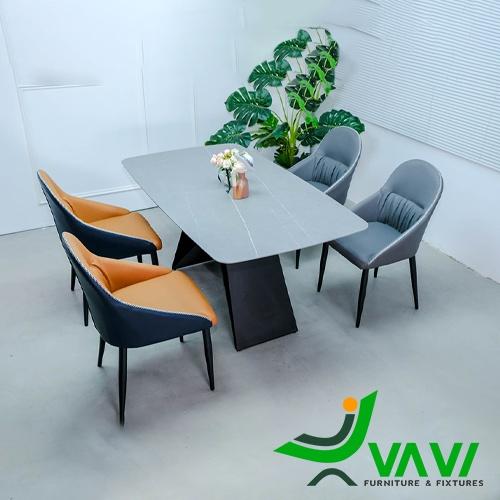 Bộ bàn ghế ăn mặt đá cao cấp nhập khẩu