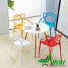 Bộ bàn tròn 4 ghế nhựa đúc giá rẻ