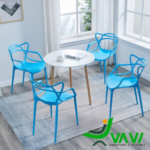 Bộ bàn tròn 4 ghế nhựa đúc giá rẻ nhập khẩu