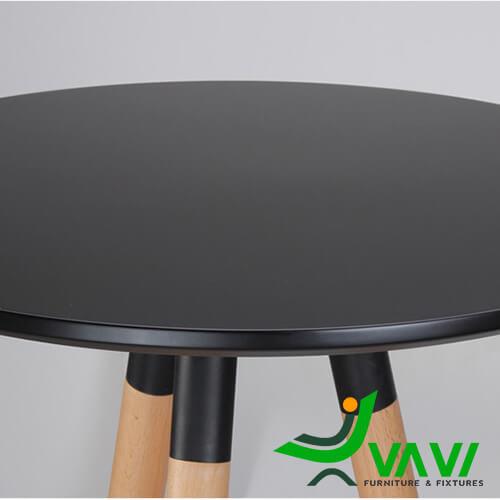 Mặt bàn bar cafe mặt tròn 3 chân gỗ nhập khẩu