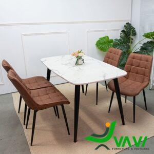 Bộ bàn ghế bọc da chân thép nhập khẩu