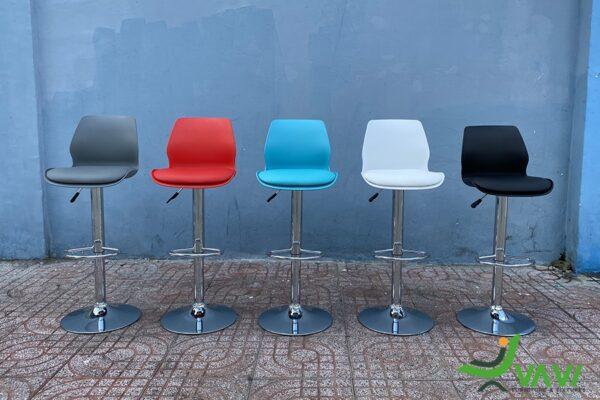 ghế quầy bar lưng nhựa lót nệm chân cao nhập khẩu