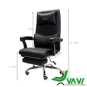 Kích thước ghế giám đốc ngả lưng da PU