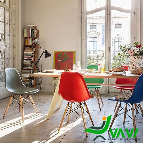 Ghế ăn Eames nhựa hiện đại