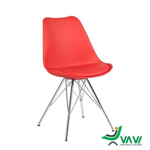 Ghế eames cho quán cafe màu đỏ