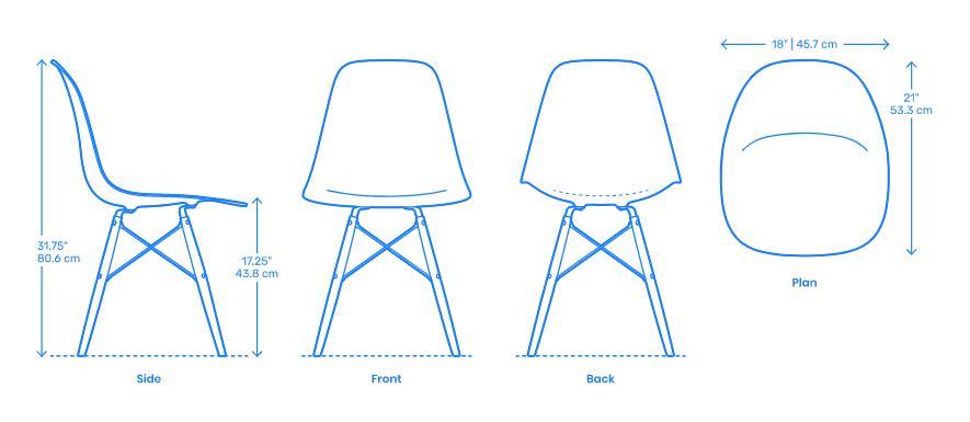 Kích thước ghế Eames