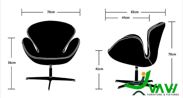 Kích thước ghế đọc sách thư giãn thổ cẩm
